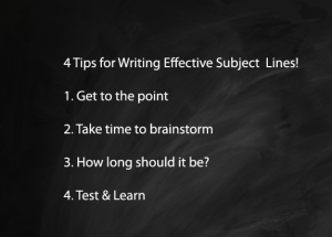 4 tips for writing effective subject lines